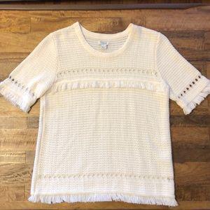 JCREW Fringe Sweater